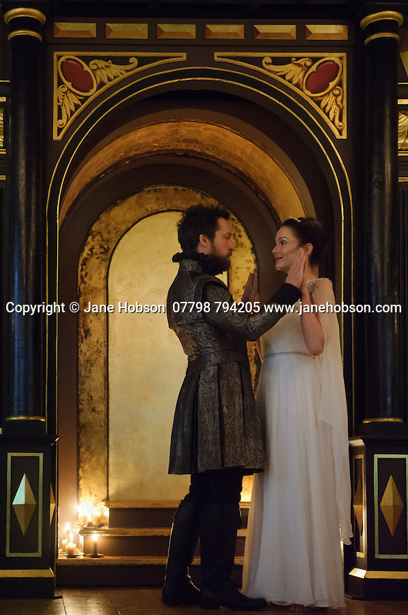 Shakespeare's Globe presents THE WINTER'S TALE, by William Shakespeare, in the Sam Wanamaker Playhouse. Picture shows: John Light (Leontes) and Rachael Stirling (Hermione)