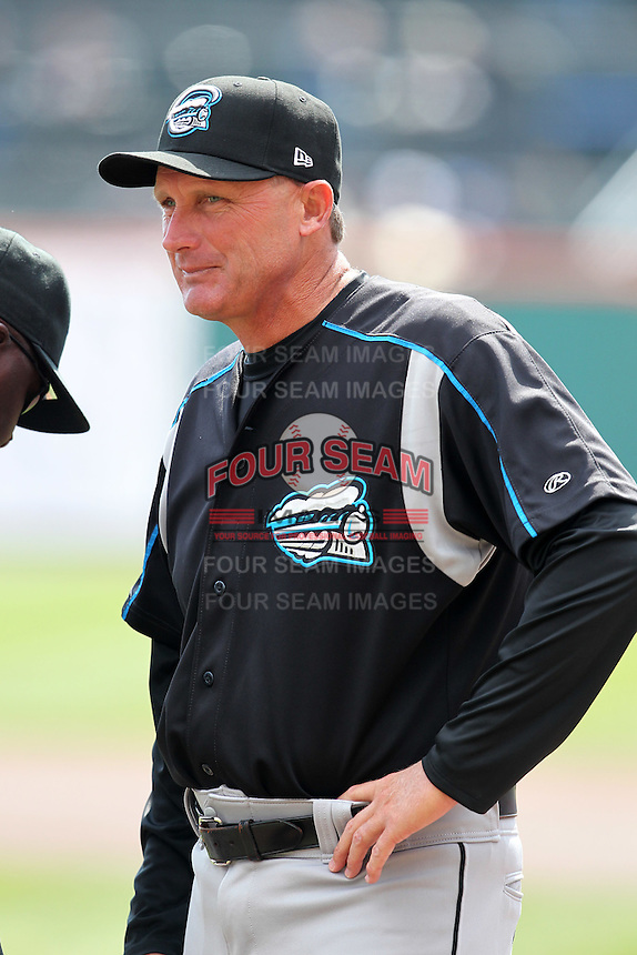 Syracuse Chiefs manager Randy Knorr #27 during a game against the Buffalo Bisons at Dunn Tire Park on April 7, 2011 in Buffalo, New York.  Syracuse defeated Buffalo 8-5.  Photo By Mike Janes/Four Seam Images