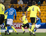 St Johnstone v St Mirren.....11.01.14   SPFL<br /> Stevie May scores the second goal<br /> Picture by Graeme Hart.<br /> Copyright Perthshire Picture Agency<br /> Tel: 01738 623350  Mobile: 07990 594431