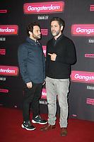 ROMAIN LEVY, MANU PAYET, AVANT-PREMIERE DU FILM 'GANGSTERDAM' AU GRAND REX A PARIS, FRANCE, LE 23/03/2017.