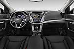 Stock photo of straight dashboard view of 2015 Hyundai I40 Premium 5 Door Wagon Dashboard