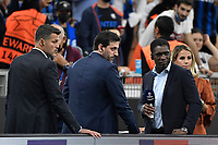 Former players Julio Cesar, Diego Milito and Clarence Seedorf and Amazon Prime journalist Giulia Mizzoni look on during the Uefa Champions League group D football match between FC Internazionale and Real Madrid at San Siro stadium in Milano (Italy), September 15th, 2021. Photo Andrea Staccioli / Insidefoto