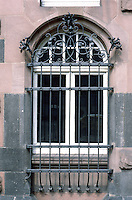 Frankfurt: Ironwork, window--Romer.