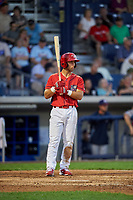 Williamsport Crosscutters first baseman Austin Listi (33) at bat during a game against the Mahoning Valley Scrappers on July 8, 2017 at BB&T Ballpark at Historic Bowman Field in Williamsport, Pennsylvania.  Williamsport defeated Mahoning Valley 6-1.  (Mike Janes/Four Seam Images)