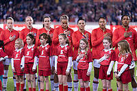 HOUSTON, TX - JANUARY 31: The USWNT lines up during a game between Panama and USWNT at BBVA Stadium on January 31, 2020 in Houston, Texas.