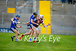 A tussle for possession bewteen Jason Diggins of Causeway and St Brendans Cian Hussey in the County Senior Hurling championship