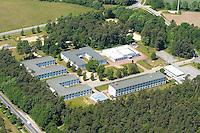 Asylantenheim:EUROPA, DEUTSCHLAND, MECKLENBURG- VORPOMMERN, 28.05.2005:Hamburger Asylantenheim in Nostorf- Horst, Malteser, Unterbringung, Abschiebung,  Luftbild, Luftbild,