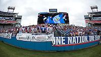 Nashville, Tenn. - Friday, July 3, 2015: The US Men's National team play Guatemala in an international friendly match at Nissan stadium.
