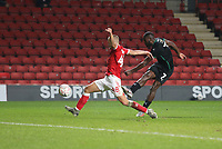 Frank Nouble of Plymouth Argyle shot goes wide during Charlton Athletic vs Plymouth Argyle, Emirates FA Cup Football at The Valley on 7th November 2020