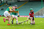 Fionan O'Sullivan, Kerry scores his side's first goal during the National hurling league between Kerry v Down at Austin Stack Park, Tralee on Sunday.