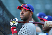 Round Rock Express outfielder Joey Butler #17 during batting practice before a game versus the Memphis Redbirds at Autozone Park on April 29, 2011 in Memphis, Tennessee.  Round Rock defeated Memphis by the score of 5-4 in 13 innings.  Photo By Mike Janes/Four Seam Images