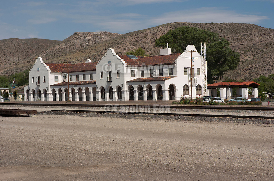 Spanish-style Union Pacific Railroad depot built 1923, Caliente, Nev.
