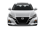 Car photography straight front view of a 2020 Nissan Altima SV 4 Door Sedan Front View