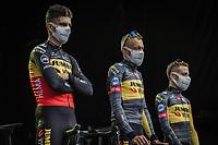 Freshly crowned Belgian National Champion Wout Van Aert (BEL/Jumbo Visma) at the pre Tour teams presentation of the 108th Tour de France 2021 in Brest at le Grand Départ.<br /> <br /> 108th Tour de France 2021<br /> <br /> ©kramon