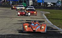 19 March 2011: The #35 Judd Oak Pecarolo of Frederic Da Rocha, Patrick Lafargue, and Andrea Barlesi leads a pack of cars during the12 Hours of Sebring, Sebring Internatonal Raceway, Sebring, FL. (Photo by Brian Cleary/www.bcpix.com)