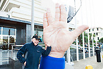 American actor Walter Koenig pose with the big hand at the door of the theater during Festival de Cine Fantastico de Sitges in Barcelona. October 11, Spain. 2016. (ALTERPHOTOS/BorjaB.Hojas)