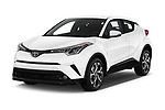 2019 Toyota C-HR Limited Door SUV Angular Front stock photos of front three quarter view