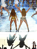 MIAMI, FL - FEBRUARY 2: Jennifer Lopez and Shakira perform on the Pepsi Halftime Show at Super Bowl LIV at Hard Rock Stadium on February 2, 2020 in Miami, Florida. (Photo by Frank Micelotta/Fox Sports/PictureGroup)