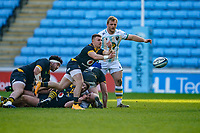 6th February 2021; Ricoh Arena, Coventry, West Midlands, England; English Premiership Rugby, Wasps versus Northampton Saints; Ben Vellacott of Wasps release a long pass
