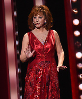 NASHVILLE, TN - NOVEMBER 13: Reba McEntire performs on the 53rd Annual CMA Awards at the Bridgestone Arena on November 13, 2019 in Nashville, Tennessee. (Photo by Frank Micelotta/PictureGroup)