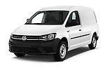 2016 Volkswagen Caddy Maxi Van - 5 Door Car Van Angular Front stock photos of front three quarter view