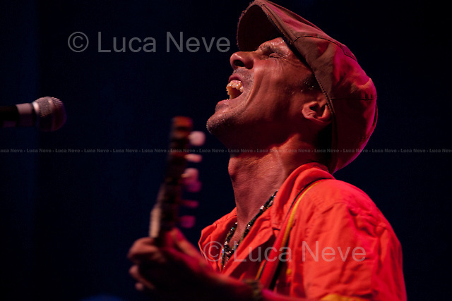 """Manu Chao.<br /> <br /> London, 30/09/2012. Manu Chao, La Troba Kung-Fú, Hollie Cook, Horseman, Mutant HiFi performed for the non-profit event """"Brixton Come Together Festival"""" at the Electric."""