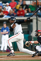 May 26 2007: John Mayberry,jr.of the Bakersfield Blaze bats against the Rancho Cucamonga Quakes at The Epicenter in Rancho Cucamonga,CA.  Photo by Larry Goren/Four Seam Images