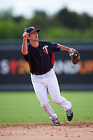 Minnesota Twins Sean Miller (2) during an instructional league game against the Boston Red Sox on September 26, 2015 at CenturyLink Sports Complex in Fort Myers, Florida.  (Mike Janes/Four Seam Images)