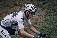 Simon Yates (GBR/Orica-Scott) up the Mur de Péguère (Cat1/1375m/9.3km/7.9%)<br /> <br /> 104th Tour de France 2017<br /> Stage 13 - Saint-Girons › Foix (100km)