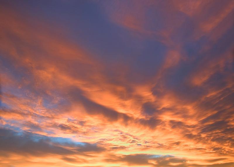 Morning clouds near Alpine Oregon