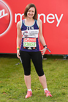 Jennifer Bartram<br /> at the start of the 2016 London Marathon, Blackheath, Greenwich London<br /> <br /> <br /> ©Ash Knotek  D3108 24/04/2016