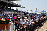 DEL MAR, CA  AUGUST 25:  The crowd gathers to watch the Shared Belief Stakes, on August 25, 2018 at Del Mar Thoroughbred Club in Del Mar, CA.(Photo by Casey Phillips/Eclipse Sportswire/Getty ImagesGetty Images