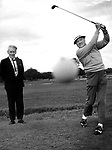 Bob Hope playsing golf in Killarney in 1972 with Capt DD O'Connell, Manager..Picture by Donal MacMonagle