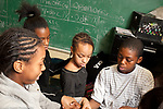 Elementary School afterschool program social emotional learning affirmation trust exercise for group of students