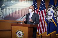 Democratic Caucus Chairman United States Representative Hakeem Jeffries (Democrat of New York) holds