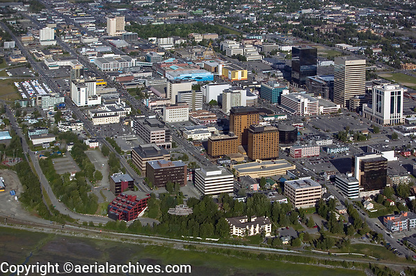aerial photograph of Anchorage, Alaska