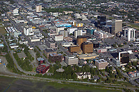 aerial photograph of Anchorage, Alaska