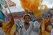 Rio de Janeiro, Brazil. Beija Flor samba dancers during the carnival parade.