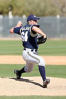 Caleb Thielbar, Milwaukee Brewers 2010 minor league spring training..Photo by:  Bill Mitchell/Four Seam Images.