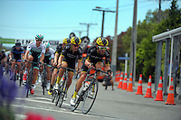 George Atkins (JLT Condor) in action as riders start the final lap of the Martinborough circuit. UCI Oceania Tour - NZ Cycle Classic stage two - Masterton to Martinborough circuit in Wairarapa, New Zealand on Thursday, 21 January 2016. Photo: Dave Lintott / lintottphoto.co.nz