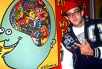 Keith Haring 1980s Photo by Adam Scull-PHOTOlink.net