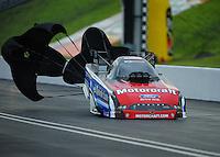 Jun. 18, 2011; Bristol, TN, USA: NHRA funny car driver Bob Tasca III during qualifying for the Thunder Valley Nationals at Bristol Dragway. Mandatory Credit: Mark J. Rebilas-