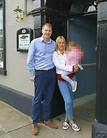 """Pictured: Neal Gardner with wife Francesca at happier times outside their hotel in Brecon, Wales, UK.<br /> Re: Neal Gardner, 36, who is being evicted from his 17th Century country guesthouse in Brecon, Mid Wales, after """"strangling"""" his wife Francesca Gardner. He was convicted of assault and given a five-year restraining by Magistrates Court in Merthyr Tydfil, Wales, UK."""