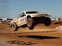 Apr 16, 2011; Surprise, AZ USA; LOORRS driver Carl Renezeder (17) during round 3 at Speedworld Off Road Park. Mandatory Credit: Mark J. Rebilas-.