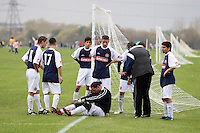 White Hart Rapids FC players show their concern for an injured team mate during an East London Sunday League match at Hackney Marshes - 01/11/09 - MANDATORY CREDIT: Gavin Ellis/TGSPHOTO - Self billing applies where appropriate - Tel: 0845 094 6026