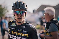 "Quinten Hermans' (BEL/Telenet Fidea Lions) post-race face<br /> <br /> Antwerp Port Epic 2018 (formerly ""Schaal Sels"")<br /> One Day Race:  Antwerp > Antwerp (207 km; of which 32km are cobbles & 30km is gravel/off-road!)"
