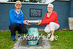 Members of the Lixnaw Development Association burying two time capsules on Sunday in Lixnaw, as part of National Heritage Week - one being reopened in 30 years, the other being reopened in 100 years. L to r: Dick McElligott (Chairman) and Maria Conway (Secretary).