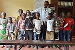 Pediatric HIV outpatients with Patric Irenge, Acting Director, at Kibuye Hospital, Karongi District, Western Rwanda ..