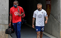 SANDY, UT - JUNE 10: DeAndre Yedlin #22 of the United States before a game between Costa Rica and USMNT at Rio Tinto Stadium on June 10, 2021 in Sandy, Utah.