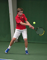 20131201,Netherlands, Almere,  National Tennis Center, Tennis, Winter Youth Circuit, Julian Prins  <br /> Photo: Henk Koster